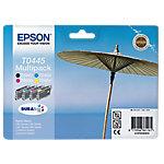 Cartucho de tinta Epson original t0445 negro, cian, magenta, amarillo c13t04454010 4 unidades