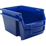 Contenedor de almacanaje apilable Viso polipropileno 30 x 45,5 x 17,5 cm azul