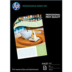 Papel fotográfico HP Profesional A4 mate 180 g/m² 210 (a) x 297 (h) mm blanco 100 hojas