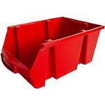 Contenedor de almacenaje apilable Viso polipropileno 21,5 x 33,5 x 15 cm rojo
