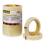 Cinta adhesiva Scotch 550 adhesivo acrílico 19 mm x 66 m transparente 8 rollos
