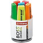 Marcador fluorescente STABILO Boss Original punta biselada colores surtidos 6 unidades