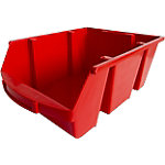 Contenedor de almacenaje apilable Viso polipropileno 30 x 45,5 x 17,5 cm rojo