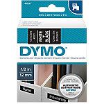 Cinta para rotuladora DYMO 45021 blanco sobre negro 12mm (a) x 7m (l) 7 m