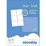 Etiqueta multifunción Niceday 980436 Formato Especial blanco 99,1 x 93,1 mm 100 hojas de 6 etiquetas