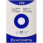 Tarjetas de registro Exacompta 13306E A4 liso 29,7 x 2,5 x 21 cm 100 unidades