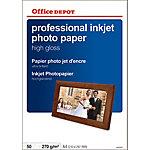 Papel fotográfico profesional Office Depot A4 brillante 280 g
