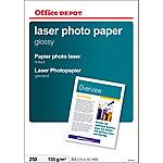 Papel fotográfico Office Depot Láser A4 brillante 135 g