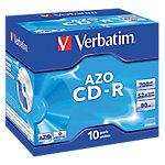 CD R Verbatim AZO Crystal, , 700 MB, 10 pieza(s), 120 mm, 80 min, Policarbonato 43327