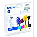 Cartucho de tinta Brother Original LC970VALBP Negro & 3 Colores 4 unidades