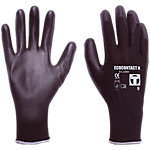 Guantes de seguridad Janfer Ecocontact nylon talla 6 negro 2 unidades
