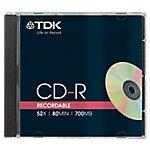 CD R TDK 52x 700 mb 10 unidades