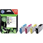 Cartucho de tinta HP 364XL Original Negro, Cian, Magenta, Amarillo Multipack N9J74AE