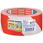 Cinta señalizadora TESA Signal Universal, Rojo, Blanco, Polipropileno (PP), 66 m, 55 mm 58134 00000 00