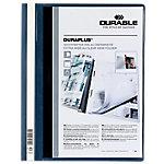 Dossier con fastener DURABLE A4 azul, transparente plástico