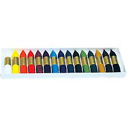Crayones de cera blanda Manley 15 unidades