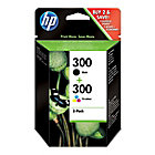 Cartucho de tinta HP original 300 & 300 negro & 3 colores cn637ee 2 unidades