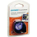 Cinta para rotuladora DYMO LetraTag negro sobre transparente 12mm (a) x 12cm (h) x 4m (l)