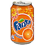 Refresco Coca Cola , 330 ml, Naranja, Lata, Alto contenido en carbonato, Carbonated Water, Sugar, Orange Juice from Concentrate (7%), Citrus Extract (1%), Citric Acid,..., 50 kcal 5449000011527