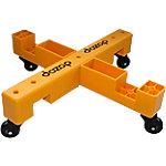 Carro modular Dozop 4 módulos 4 ruedas polipropileno amarillo