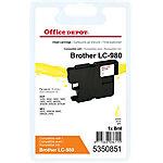 Cartucho de tinta Office Depot compatible brother lc980y amarillo