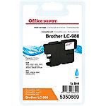 Cartucho de tinta Office Depot compatible brother lc980c cian