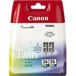Cartucho de tinta Canon original cli36 negro & 3 colores 2 unidades