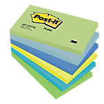 Notas adhesivas Post it 127 x 76 mm amarillo neón, azul cielo, azul retro, azul ultra, verde ultra, verde pastel 6 unidades de 100 hojas