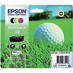 Cartucho de tinta Epson original 34 negro, cian, magenta, amarillo c13t34664010 4 unidades