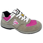 Zapatos Dunlop piel, malla talla 38 s3 gris