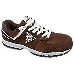 Zapatos Dunlop piel, malla talla 44 s3 marrón