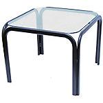 Mesa recepción Piqueras y Crespo 60CT 50 x 50 cm plata, transparente