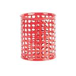 Cubilete Foray Mesh rojo metal