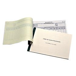 Libro de subcontratación Ingraf Rojo 274
