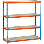 Estantería gran carga Simonrack Simonforte 1506 4 azul, naranja 1.500 x 600 x 2.000 mm