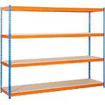 Estantería gran carga Simonrack Simonforte 1806 4 azul, naranja 1.800 x 600 x 2.000 mm