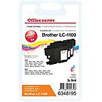 Cartucho de tinta Office Depot compatible brother lc1100 3 colores 3 unidades