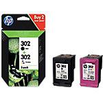 Cartucho de tinta HP original 302 negro, cián, magenta, amarillo X4D37AE 2 unidades