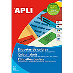 Etiqueta multifunción APLI 01591 Amarillo 480 etiquetas por paquete