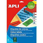 Etiqueta multifunción APLI 01593 Rojo 480 etiquetas por paquete