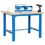 Banco trabajo madera Simonrack azul 120 x 75 x 86,5 cm