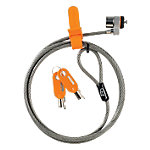 Cable antirrobo Kensington Cable de seguridad MicroSaver® con llave para ordenadores portátiles, Negro, Gris, Acero, 1,8 m, 5,3 mm, 278 g, 165 x 230 x 20 mm 64020