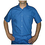 Camisa manga corta velilla 2 bolsillos delanteros poliéster talla m azul