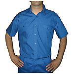 Camisa manga corta velilla 2 bolsillos delanteros poliéster talla l azul marino