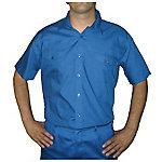 Camisa manga corta velilla 2 bolsillos delanteros poliéster talla xxl azul