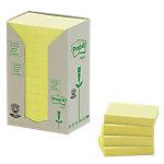 Notas adhesivas recicladas Post it 51 x 38 mm amarillo 24 unidades de 100 hojas