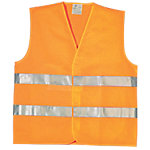 Chaleco reflectante Viso nylon talla xl naranja, plata