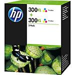 Cartucho de tinta HP original 300xl 3 colores d8j44ae 2 unidades