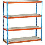 Estantería gran carga Simonrack Simonforte 1504 4 azul, naranja 1.500 x 450 x 2.000 mm