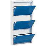 Zapatero metálico Simonrack 9 pares Blanco, azul 50 x 13,5 x 101,3 cm
